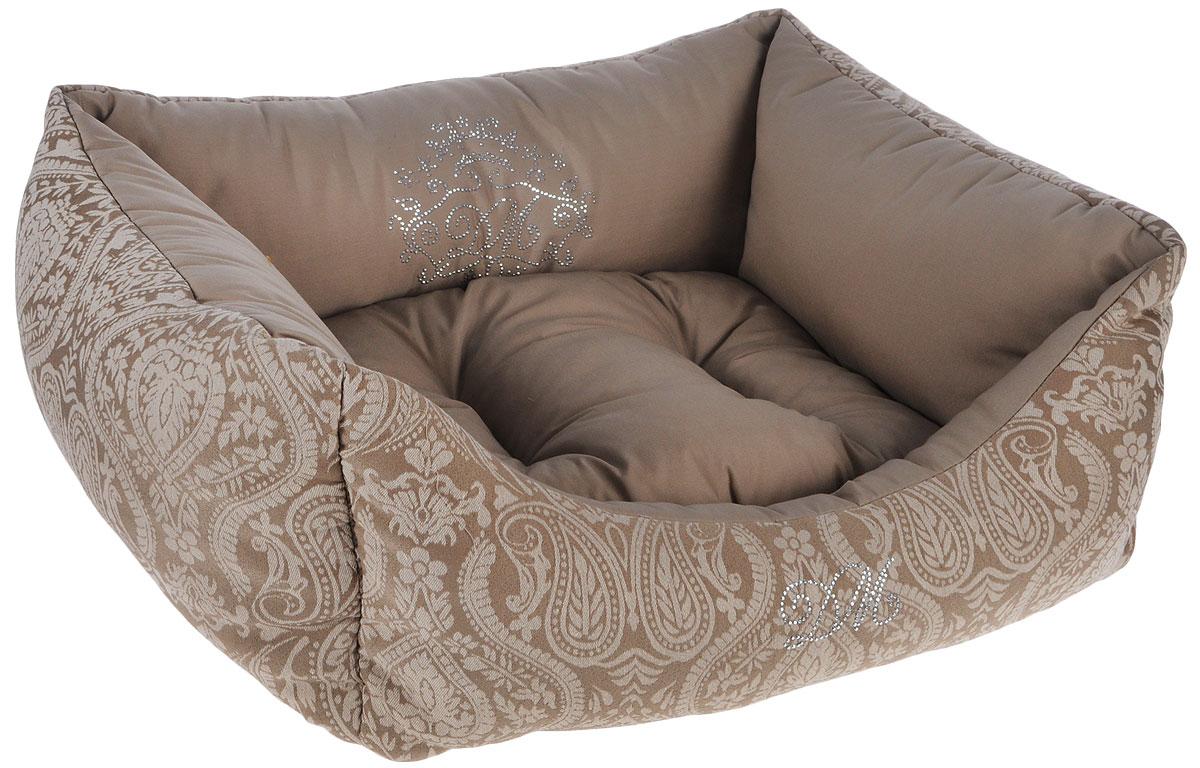 Лежак для животных Dogmoda Элегант, 52 x 46 x 21 смDM-150354-1Лежак для животных Dogmoda Элегант прекрасно подойдет для отдыха вашего домашнего питомца. Предназначен для собак мелких пород и кошек.Изделие выполнено из жаккарда с изысканными узорами и хлопка. Внутри - мягкий наполнитель из холлофайбера, который обеспечивает комфорт и уют. Лежак снабжен съемной мягкой подушкой.Роскошный уютный лежак Dogmoda Элегант станет излюбленным местом отдыха для вашего питомца, а стильный дизайн сделает его настоящим украшением интерьера.Размер лежака: 52х 46 х 21 см,Размер подушки: 40 х 34 х 7 см.
