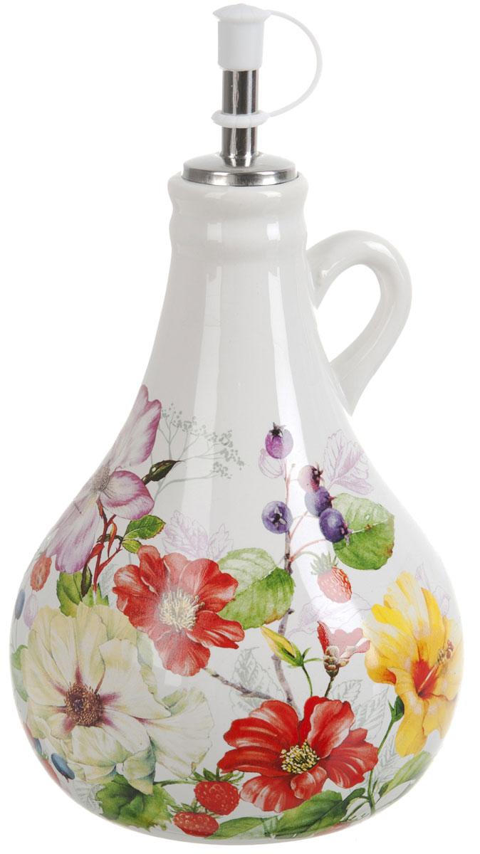 Бутылка для масла Polystar Summer, 550 млL2430930Бутылка для масла Summer изготовлена из высококачественной керамики. Изделие оформлено красочным изображением цветов.Бутылка предназначена для хранения подсолнечного или оливкового масла и уксуса. С помощью специального дозатора вы сможете легко добавить нужное количество жидкости. Объем: 550 мл.