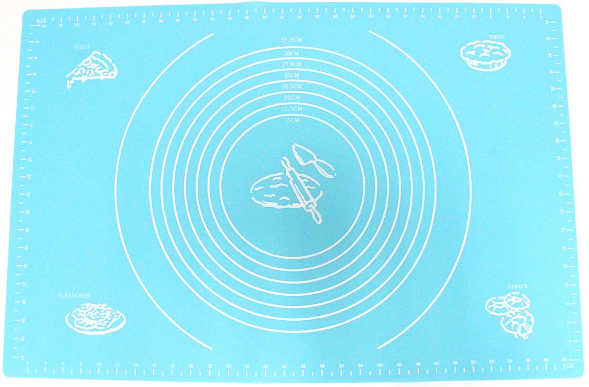 Коврик для выпечки Domodin, цвет: синий, 40 х 60 смSL4019-4Коврик для выпечки изготовлен из силикона, поэтому легко гнется и выдерживает температуру до +230 °С. Предназначен для гигиеничного приготовления любой выпечки из теста. Коврик оснащен мерной шкалой по краям (60 см х 40 см) и круглым шаблоном для теста (диаметр 15-37,5 см). Раскатывая тесто на таком коврике, вы всегда сможете придать ему нужный размер. Кроме того, тесто не прилипает. Коврик очень удобный и облегчит приготовление теста.