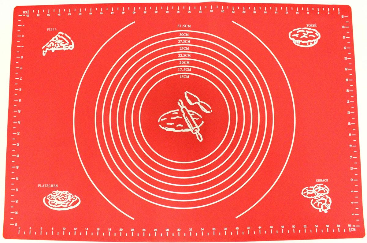 Коврик для выпечки Domodin, цвет: красный, 40 х 60 смSL4019-5Коврик для выпечки изготовлен из силикона, поэтому легко гнется и выдерживает температуру до +230 °С. Предназначен для гигиеничного приготовления любой выпечки из теста. Коврик оснащен мерной шкалой по краям и круглым шаблоном для теста. Раскатывая тесто на таком коврике, вы всегда сможете придать ему нужный размер. Кроме того, тесто не прилипает. Коврик очень удобный и облегчит приготовление теста.