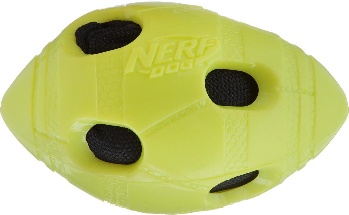 Игрушка для собак Nerf Мяч для регби, длина 10 см игрушка для собак i p t s мяч мяч регби гантель латекс в ассортименте 5см