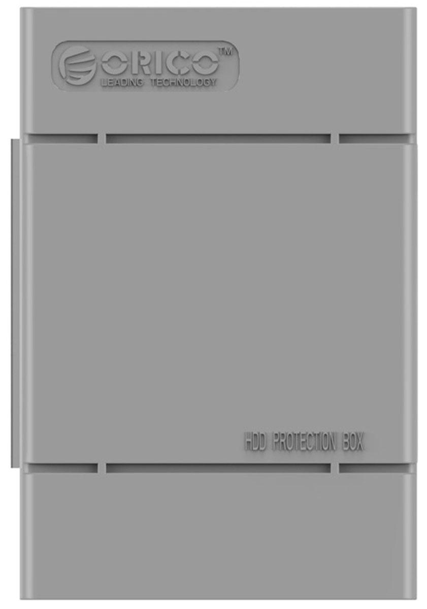 Orico PHP-35, Gray чехол для жесткого дискаORICO PHP-35-GYКейс Orico PHP-35 специально создан для защиты 3,5-дюймовых жестких дисков. Надежный материал кейса защитит диск от влаги и статического электричества, а благодаря дополнительным ребрам жесткости, кейс гарантирует хорошую защиту от ударов. С помощью специальной этикетки можно легко и просто сделать пометки на кейсе.