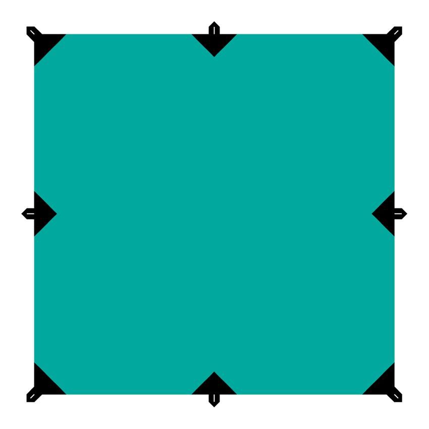 """Универсальный квадратный тент """"Tramp"""" предназначен для защиты от дождя и солнца. Использование высококачественного полиэстера делает тент прочным, легким и не впитывающим влагу. Тент имеет пропитку, защищающую от ультрафиолетового излучения. По периметру вшиты петли для фиксации тента на оттяжках. Углы тента усилены вставками из прочной ткани. Светоотражающие оттяжки с регуляторами длины и стальные колышки в комплекте. Тент упаковывается в чехол для транспортировки и хранения. Размер тента: 3 х 3 м."""