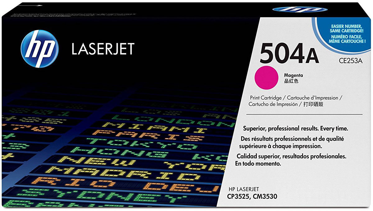 HP CE253A, Magenta тонер-картридж для Color LaserJet CP3525/CM3530 картридж hp 38 c9419a light magenta