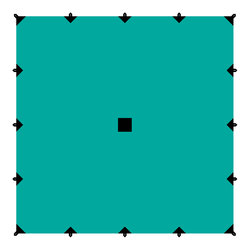 Тент Tramp, цвет: зеленый, 6 х 6 м тент терпаулинг sol цвет темно зеленый 6 х 10 м