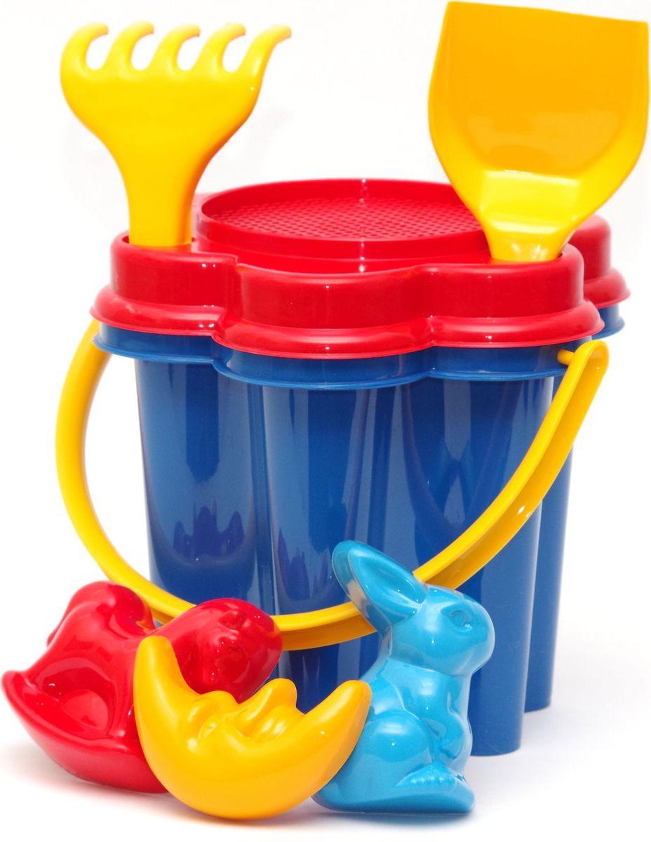 Karolina Toys Набор для песочницы Цветок 7 предметов игрушки для зимы karolina toys песочный набор цветок
