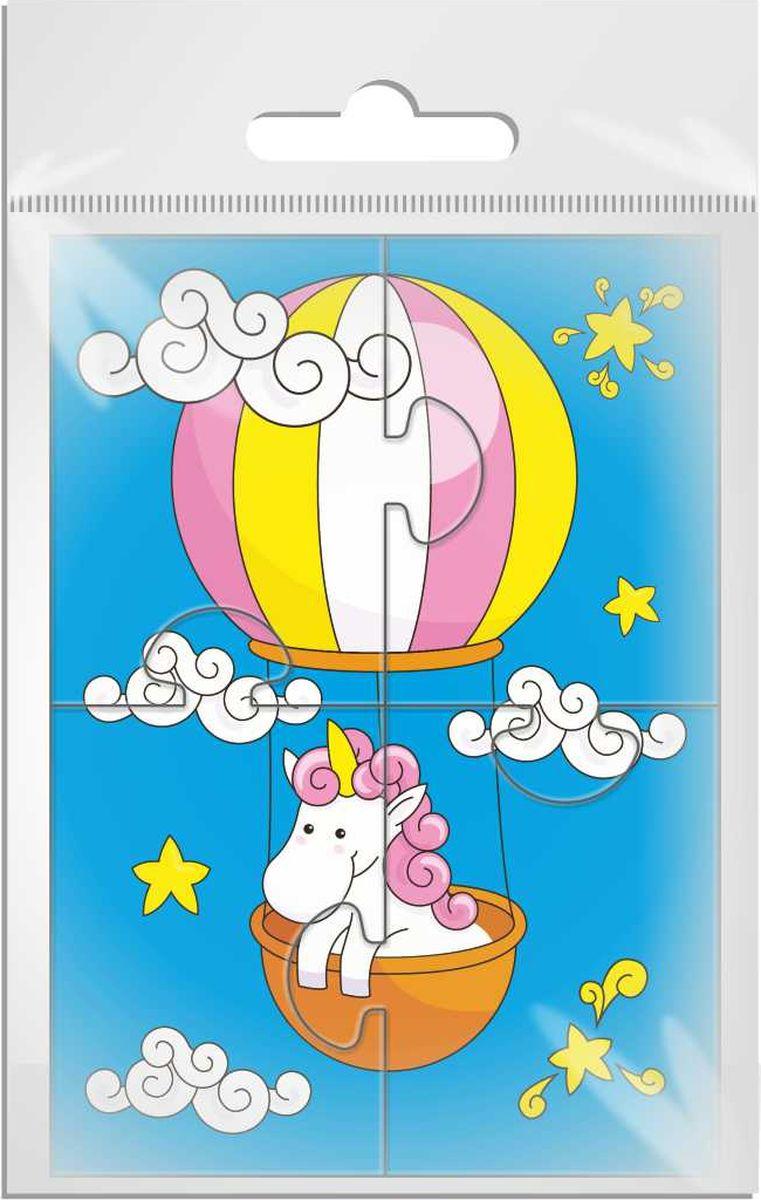 Издательская группа Квадра Пазл для малышей Единорог на воздушном шаре объемные пазл рыбка sw060