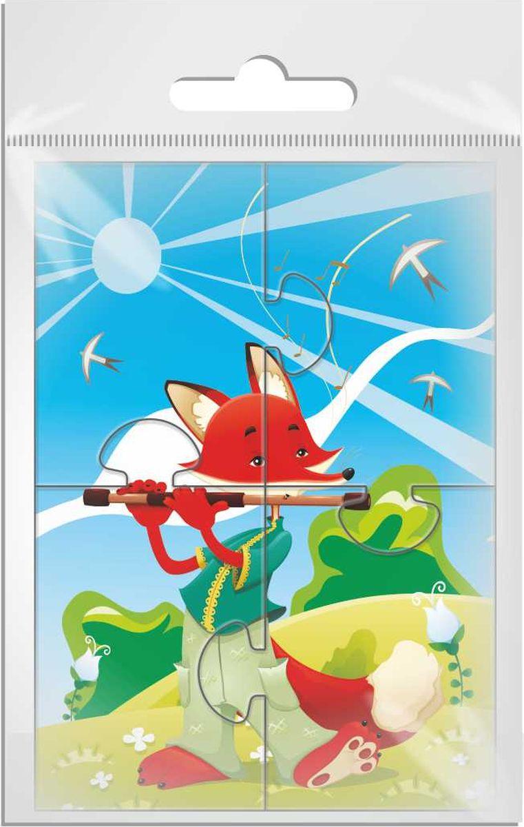 Издательская группа Квадра Пазл для малышей Лис флейтист enchantimals пазл 64 магнитик фелисити лис и флик 03554