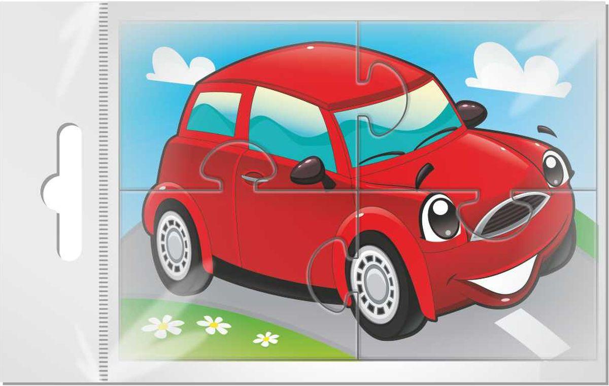 Издательская группа Квадра Пазл для малышей Машинка цвет красный