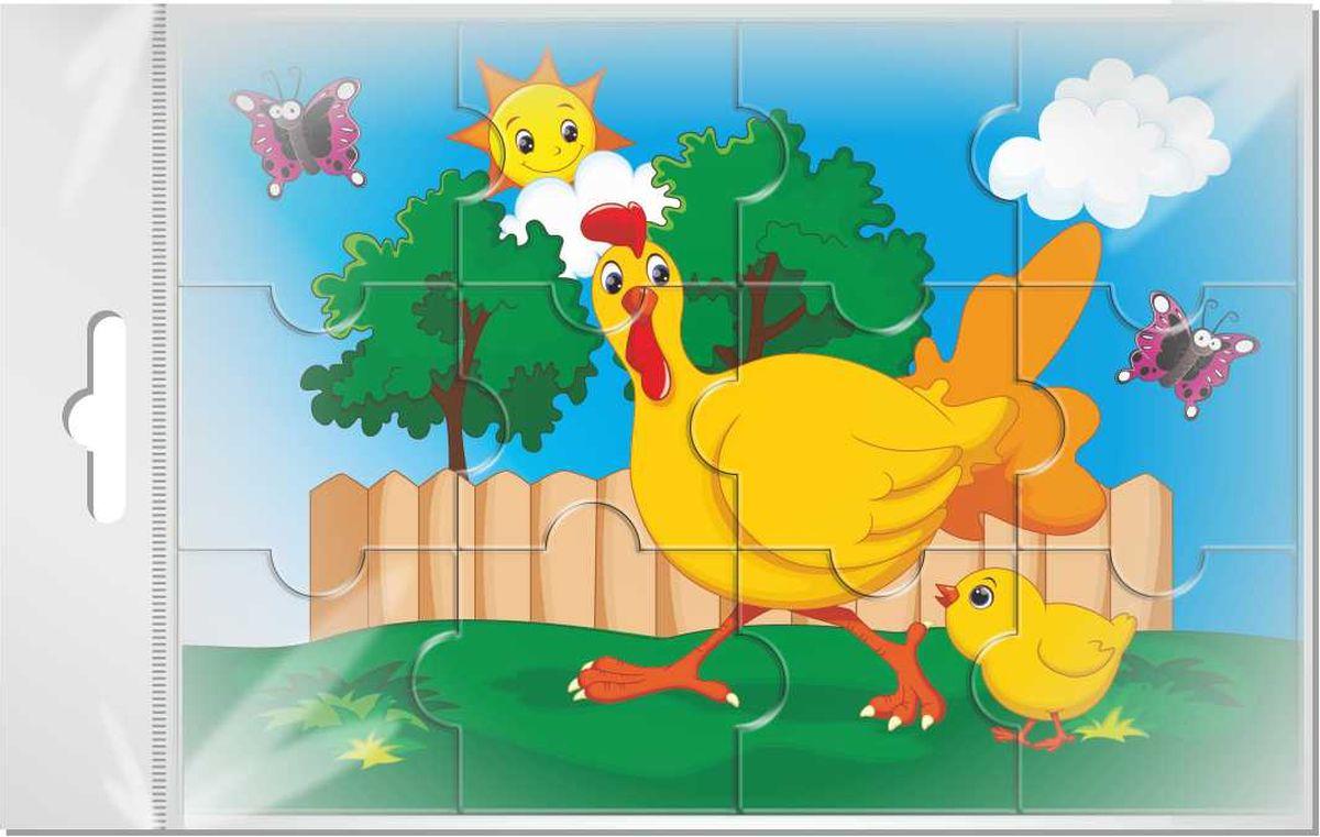 Издательская группа Квадра Пазл для малышей Курица и цыпленок флексика пазл для малышей геометрия цвет основы красный