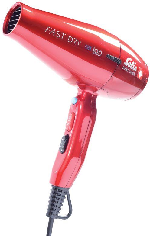 Solis FastDry, Red фенFastDry redФен Solis FastDry поможет быстро высушить и красиво уложить волосы любой длины. Данная модель практична и удобна в использовании, имеет эргономичную ручку и одинаково хорошо подойдет как для правшей, так и для левшей. Устройство имеет съемный воздушный фильтр. Фен оснащен режимом ионизации и подачи холодного воздуха, а также имеет защиту от перегрева. Фен работает в двух температурных режимах и в двух режимах интенсивности подачи воздуха. В комплект входит дополнительная насадка-концентратор.Давление воздуха: 29 мбар. Выход воздуха: 27 л/с.Скорость воздуха: до 110 км/ч.