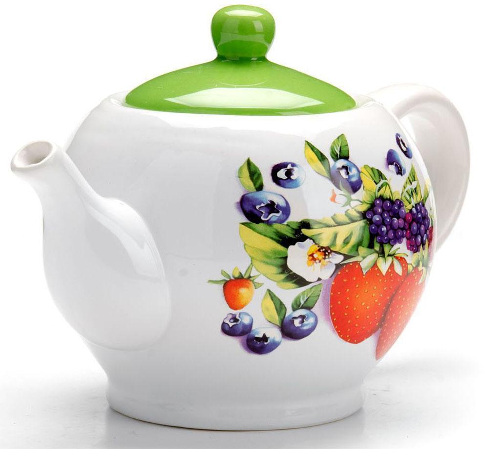 Заварочный чайник Loraine Ягоды, 950 мл26279Заварочный чайник с крышкой Loraine поможет вам в приготовлении вкусного и ароматного чая, а также станет украшением вашей кухни. Он изготовлен из доломитовой керамики и оформлен красочным изображением. Нежный рисунок придает чайнику особый шарм, чайник удобен в использовании и понравится каждому.Такой заварочный чайник станет приятным и практичным подарком на любой праздник.Подходит для мытья в посудомоечной машине.