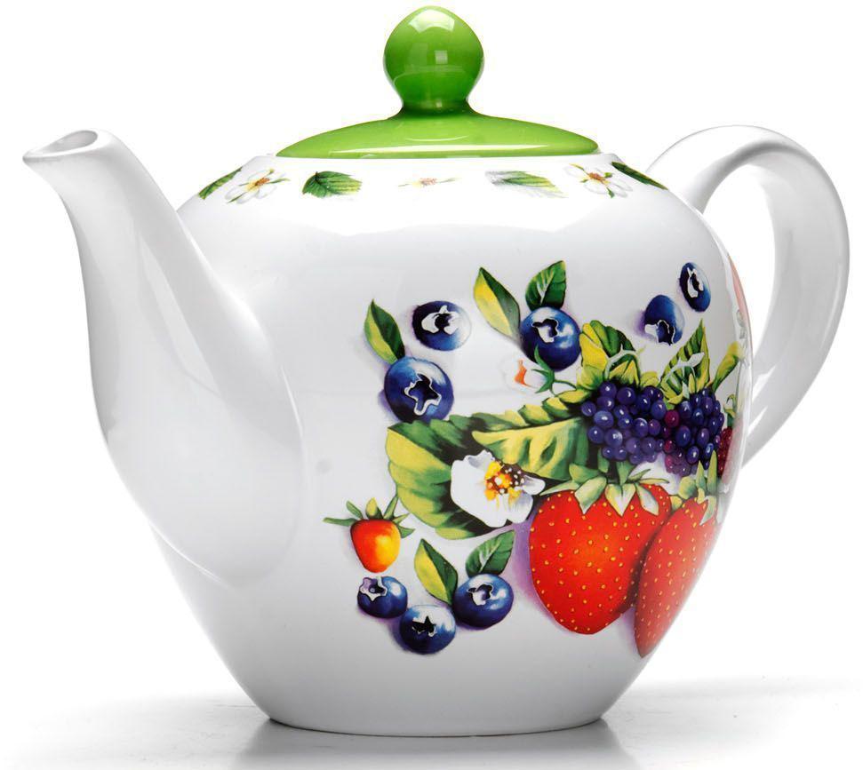 Заварочный чайник Loraine Ягоды, 1,2 л26280Заварочный чайник с крышкой Loraine поможет вам в приготовлении вкусного и ароматного чая, а также станет украшением вашей кухни. Он изготовлен из доломитовой керамики и оформлен красочным изображением. Нежный рисунок придает чайнику особый шарм, чайник удобен в использовании и понравится каждому.Такой заварочный чайник станет приятным и практичным подарком на любой праздник.Подходит для мытья в посудомоечной машине.