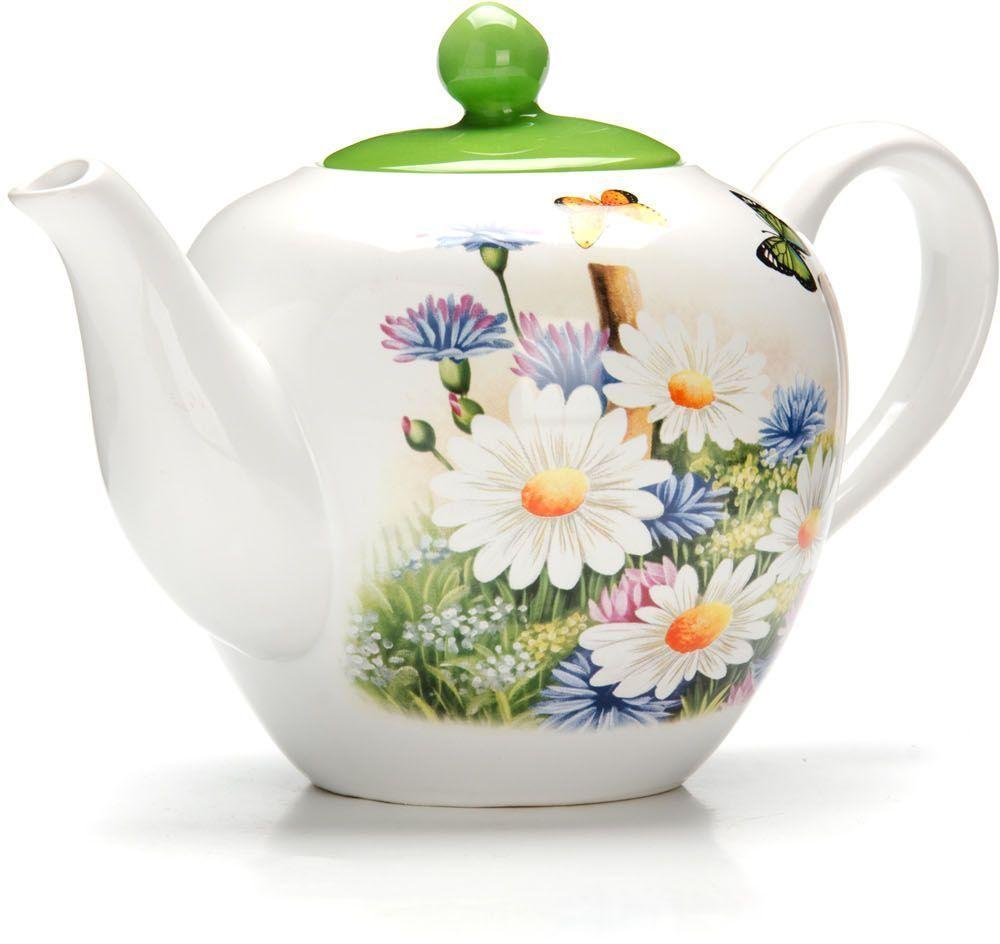 Заварочный чайник Loraine Лето, 1,2 л26297Заварочный чайник с крышкой Loraine поможет вам в приготовлении вкусного и ароматного чая, а также станет украшением вашей кухни. Он изготовлен из доломитовой керамики и оформлен красочным изображением. Нежный рисунок придает чайнику особый шарм, чайник удобен в использовании и понравится каждому.Такой заварочный чайник станет приятным и практичным подарком на любой праздник.Подходит для мытья в посудомоечной машине.
