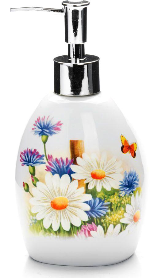 Дозатор для мыла Loraine Лето, 400 мл26299Дозатор для жидкого мыла Loraine выполнен из прочного доломита высокого качества. За изделием очень легко ухаживать, для этого достаточно просто периодически промывать его водой. Диспенсер может служить как самостоятельным предметом в вашей ванной комнате, так и дополнительным аксессуаром на кухне.Рекомендовано мыть руками. Объем: 400 мл.