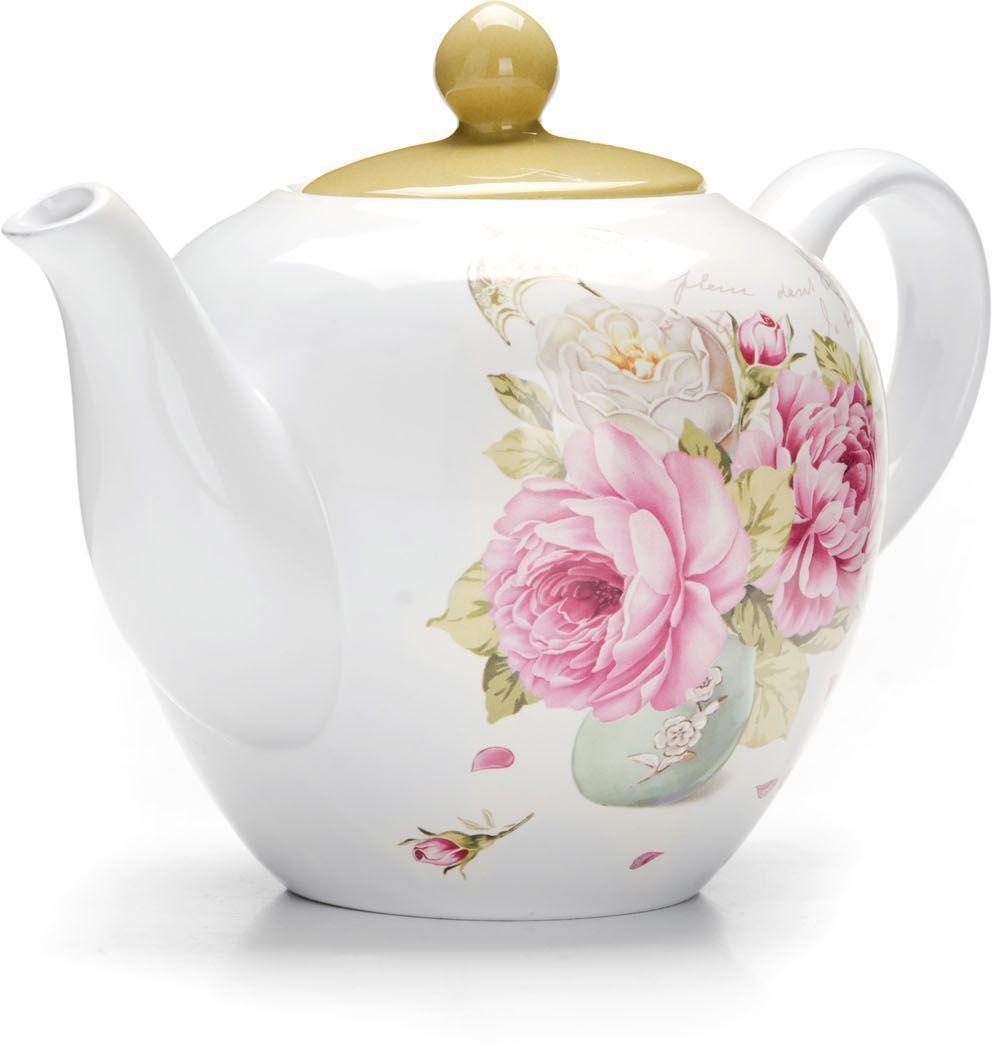 Заварочный чайник Loraine Пионы, 1,2 л26331Заварочный чайник с крышкой Loraine поможет вам в приготовлении вкусного и ароматного чая, а также станет украшением вашей кухни. Он изготовлен из доломитовой керамики и оформлен красочным изображением. Нежный рисунок придает чайнику особый шарм, чайник удобен в использовании и понравится каждому.Такой заварочный чайник станет приятным и практичным подарком на любой праздник.Подходит для мытья в посудомоечной машине.