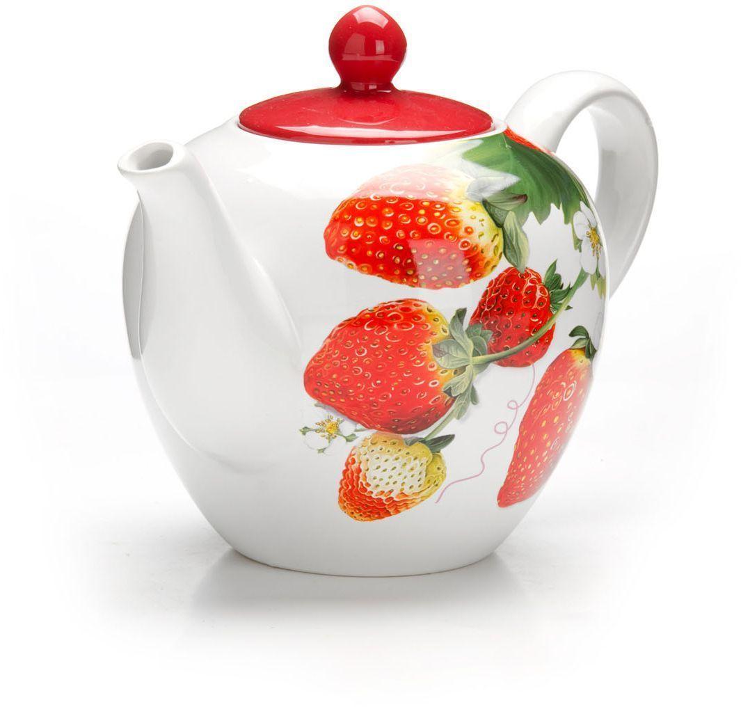 Заварочный чайник Loraine Клубника, 1,2 л26348Заварочный чайник с крышкой Loraine поможет вам в приготовлении вкусного и ароматного чая, а также станет украшением вашей кухни. Он изготовлен из доломитовой керамики и оформлен красочным изображением. Нежный рисунок придает чайнику особый шарм, чайник удобен в использовании и понравится каждому.Такой заварочный чайник станет приятным и практичным подарком на любой праздник.Подходит для мытья в посудомоечной машине.