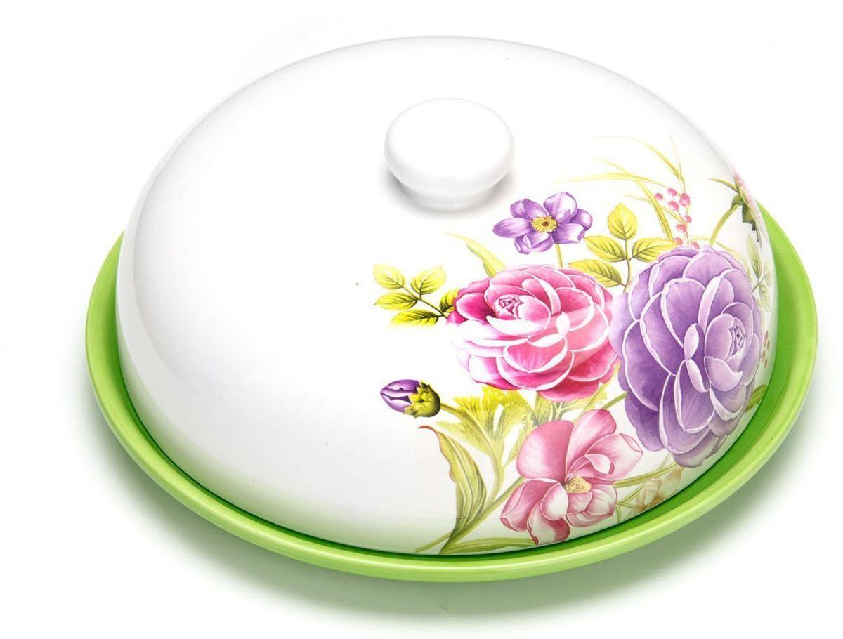 """Блюдо для блинов """"Loraine"""" изготовлено из доломитовой керамики высокого качества и украшено красивым рисунком. Изделие оснащено крышкой и предназначено для сохранения температуры блинов перед подачей на стол.  Такое блюдо понравится любителям яркого оригинального дизайна и станет неотъемлемым атрибутом.  Блюдо упаковано в индивидуальную коробку.  Подходит для мытья в посудомоечной машине."""