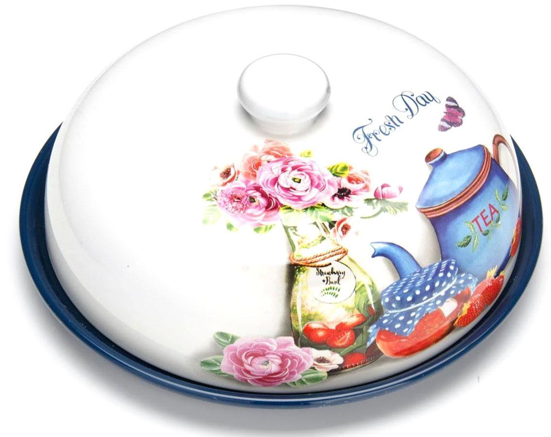 Блюдо для блинов Loraine Натюрморт, 23,8 х 11 см26414Блюдо для блинов Loraine изготовлено из доломитовой керамики высокого качества и украшено красивым рисунком. Изделие оснащено крышкой и предназначено для сохранения температуры блинов перед подачей на стол.Такое блюдо понравится любителям яркого оригинального дизайна и станет неотъемлемым атрибутом.Блюдо упаковано в индивидуальную коробку.Подходит для мытья в посудомоечной машине.