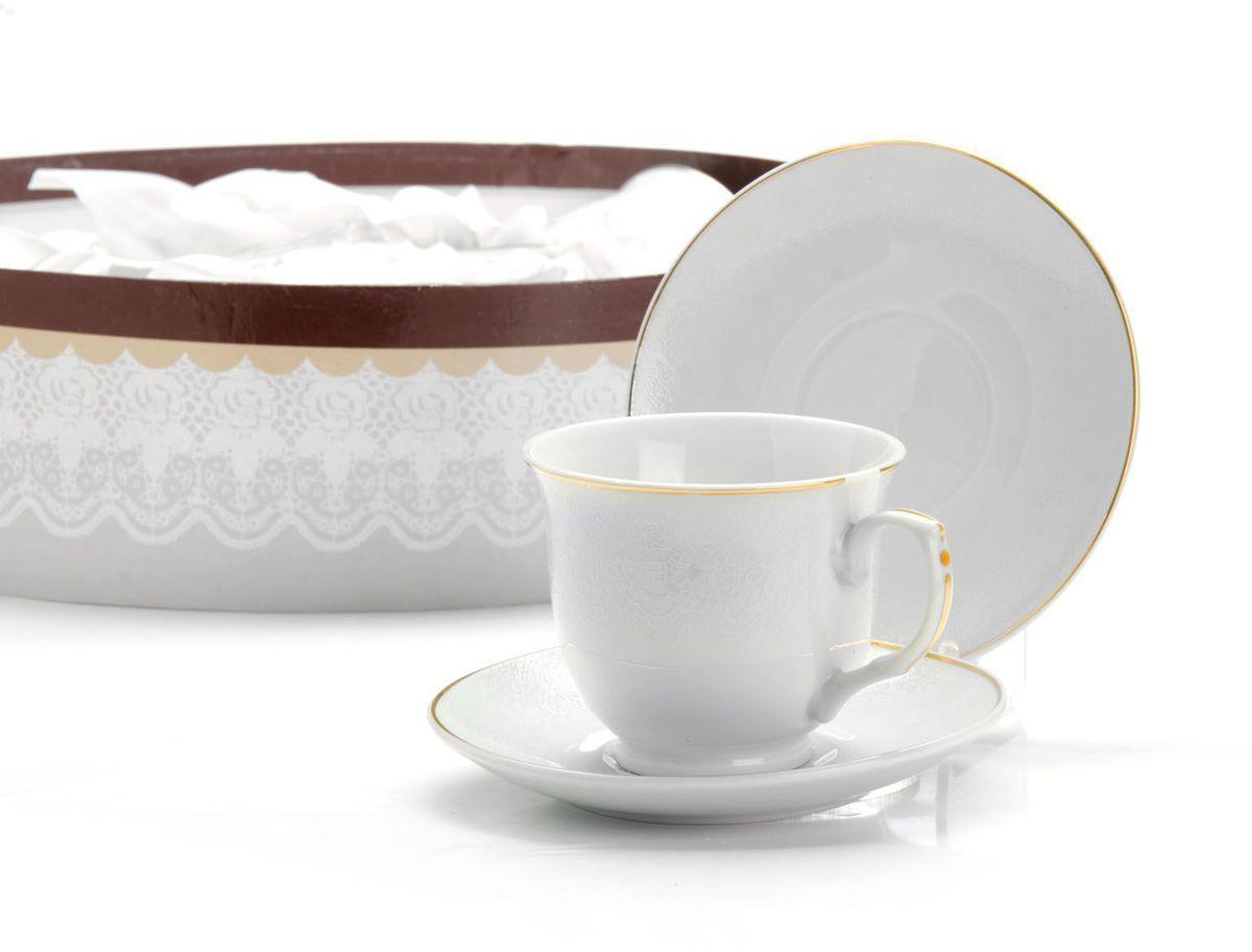 Чайный сервиз Loraine, 12 предметов, 220 мл. 2641526415Чайный набор Loraine на 6 персон, изготовленный из высококачественного костяного фарфора, состоит из 6 чашек и 6 блюдец. Набор придется по вкусу и ценителям классики, и тем, кто предпочитает утонченность и изысканность. Он настроит на позитивный лад и подарит хорошее настроение с самого утра. Набор упакован в подарочную упаковку. Такой чайный набор станет прекрасным украшением стола, а процесс чаепития превратится в одно удовольствие! Это замечательный выбор для подарка родным и друзьям!Объем чашки: 220 мл.