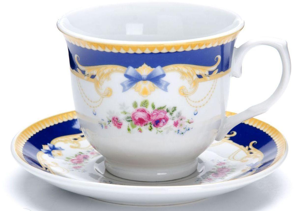 Чайный сервиз Loraine, 12 предметов, 220 мл. 2642926429Чайный набор Loraine на 6 персон, изготовленный из высококачественной керамики изысканного белого цвета, состоит из 6 чашек и 6 блюдец. Изделия набора украшены тонкой золотой каймой и имеют красивый и нежный дизайн.Набор придется по вкусу и ценителям классики, и тем, кто предпочитает утонченность и изысканность. Он настроит на позитивный лад и подарит хорошее настроение с самого утра.Набор упакован в подарочную упаковку.Такой чайный набор станет прекрасным украшением стола, а процесс чаепития превратится в одно удовольствие! Это замечательный выбор для подарка родным и друзьям!Объем чашки: 220 мл.