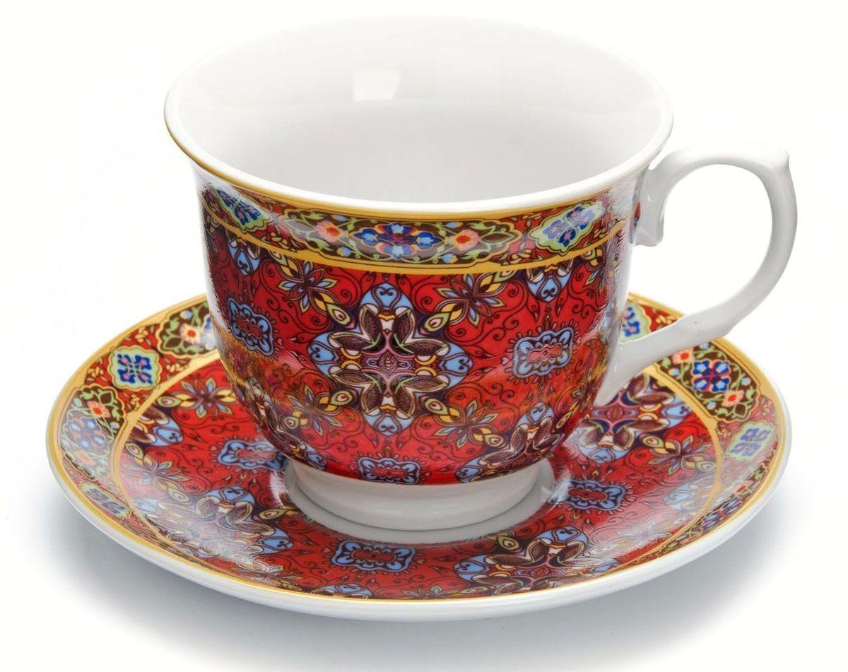 Чайный сервиз Loraine,220 мл, подарочная упаковка. 2643126431Чайный сервиз Loraine на 6 персон изготовлен из качественного фарфора и оформлен красивым рисунком. Элегантный и удобный чайный сервиз не только украсит сервировку стола, но и поднимет настроение и превратит процесс чаепития в одно удовольствие. Сервиз состоит из 12 предметов: 6 чашек и 6 блюдец, упакованных в подарочную коробку. Чашки имеют удобную, изящную ручку. Изделия легко и просто мыть. Чайный сервиз прекрасно подойдет в качестве подарка для родных и друзей на любой праздник!
