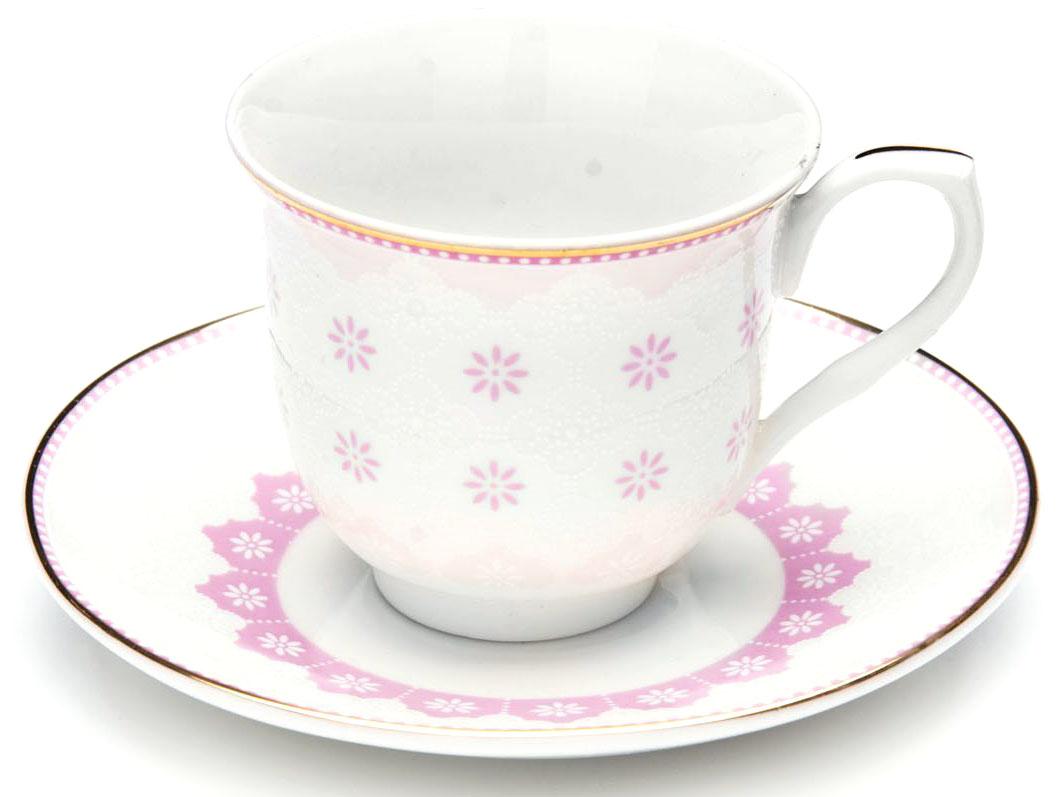 Кофейный сервиз Loraine, цвет: розовый, 80 мл, 12 предметов. 26437-226437-2Кофейный набор на 6 персон Loraine выполнен из высококачественного костяного фарфора - материала безопасного для здоровья и надолго сохраняющего тепло напитка. В наборе 6 кофейных чашек и 6 блюдец. Несмотря на свою внешнюю хрупкость, каждый из предметов набора обладает высокой прочностью и надежностью.Элегантный классический дизайн с тонкой золотой каймой делает этот кофейный набор прекрасным украшением любого стола.Набор аккуратно упакован в подарочную упаковку, поэтому его можно преподнести в качестве оригинального и практичного подарка для своих родных и самых близких.Подходит для мытья в посудомоечной машине.