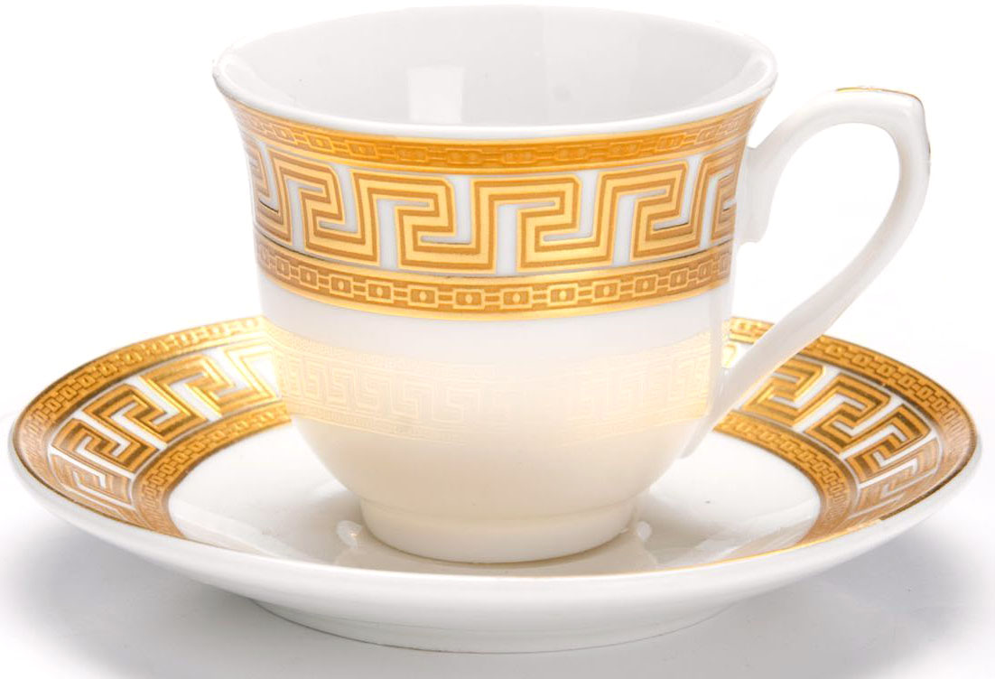 Кофейный сервиз Loraine, 80 мл, 12 предметов. 2644726447Кофейный набор на 6 персон Loraine выполнен из высококачественного костяного фарфора - материала безопасного для здоровья и надолго сохраняющего тепло напитка. В наборе 6 кофейных чашек и 6 блюдец. Несмотря на свою внешнюю хрупкость, каждый из предметов набора обладает высокой прочностью и надежностью.Элегантный классический дизайн с тонкой золотой каймой делает этот кофейный набор прекрасным украшением любого стола.Набор аккуратно упакован в подарочную упаковку, поэтому его можно преподнести в качестве оригинального и практичного подарка для своих родных и самых близких.Подходит для мытья в посудомоечной машине.