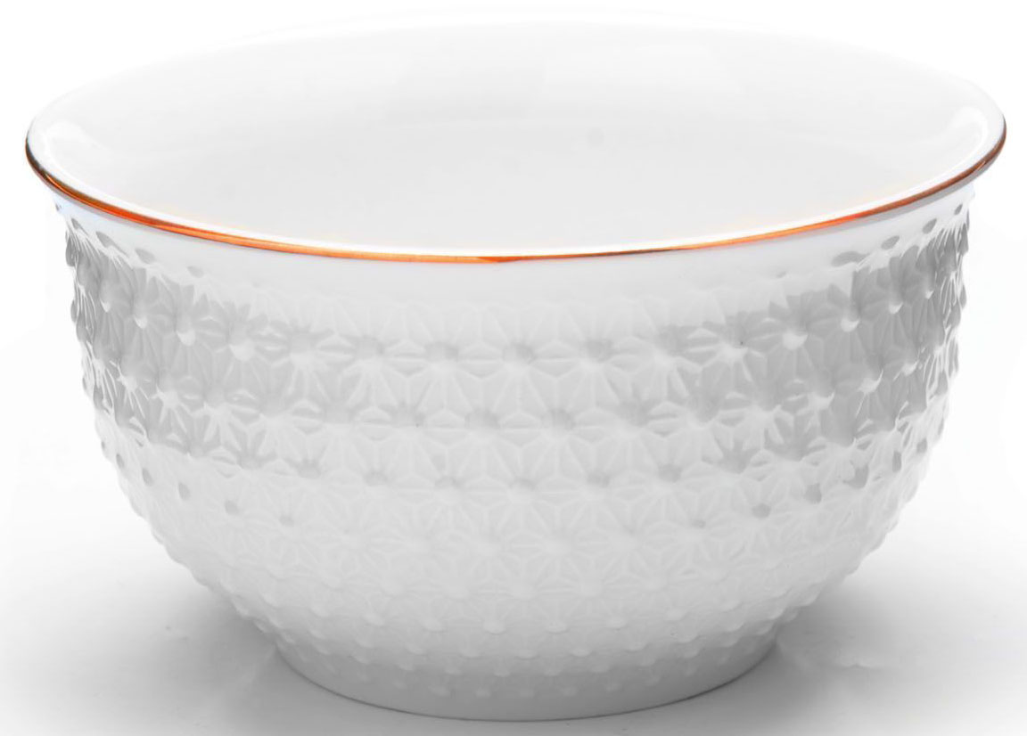 Набор салатников Loraine, 6 предметов, 350 мл. 2650826508Набор Loraine, состоящий из 6 салатников, выполнен из качественной керамики в белом цвете и украшен золотой окантовкой. В керамической посуде блюда сохраняют свои вкусовые качества, кроме того она обладает термической и химической прочностью.Благодаря оригинальному дизайну, такие салатники отлично подойдут как для ежедневного использования, так и для праздничной сервировки стола.Подходит для мытья в посудомоечной машине.