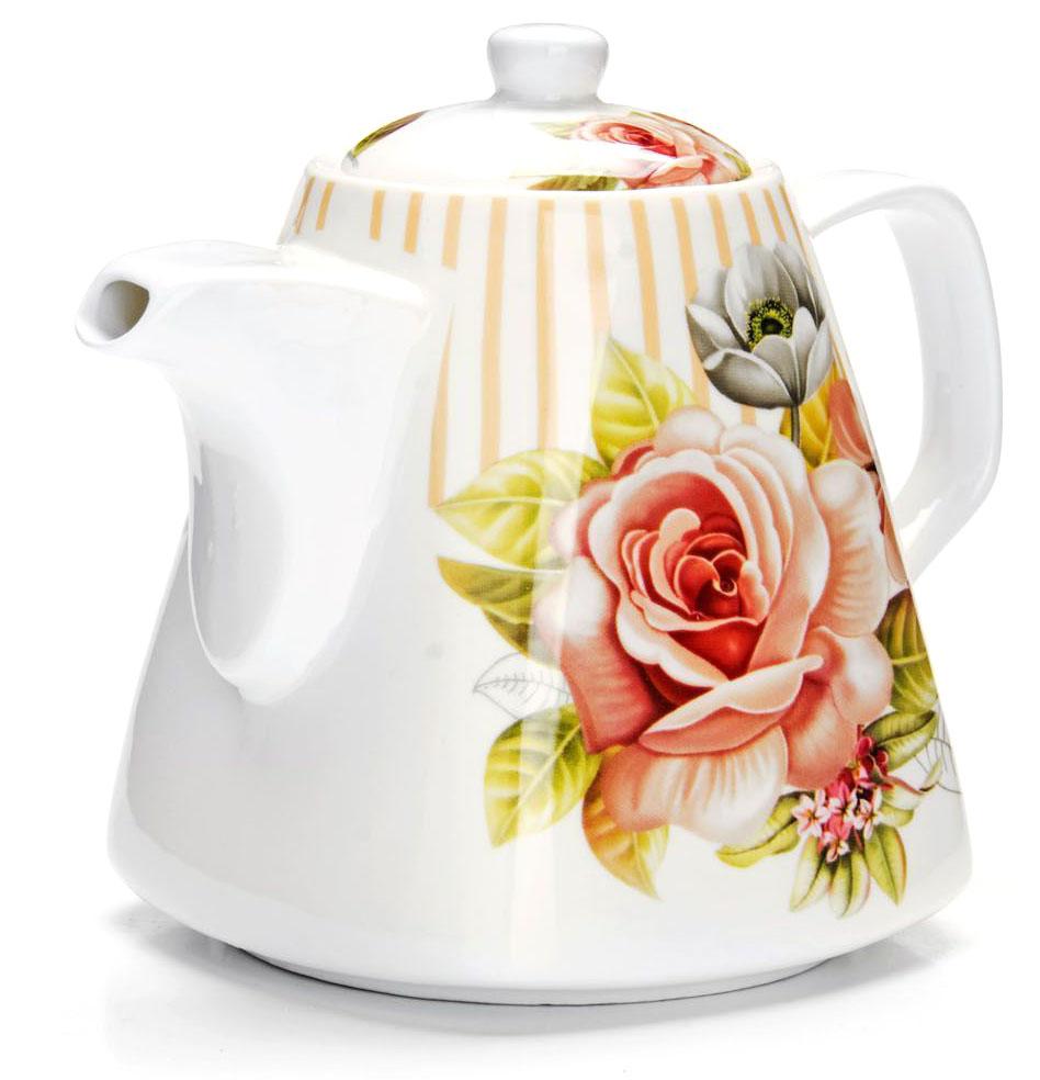 Заварочный чайник Loraine Цветы, 1,1 л. 2654726547Заварочный чайник Loraine изготовлен из высококачественной керамики. Посуда из данного материала позволяет максимально сохранить полезные свойства и вкусовые качества воды.Украшенные изящным рисунком стенки чайника, придают ему эстетичности на столе. Чайник изысканно украсит стол к чаепитию и порадует вас классическим дизайном и качеством исполнения. Не использовать в микроволновой печи. Не применять абразивные моющие средства.