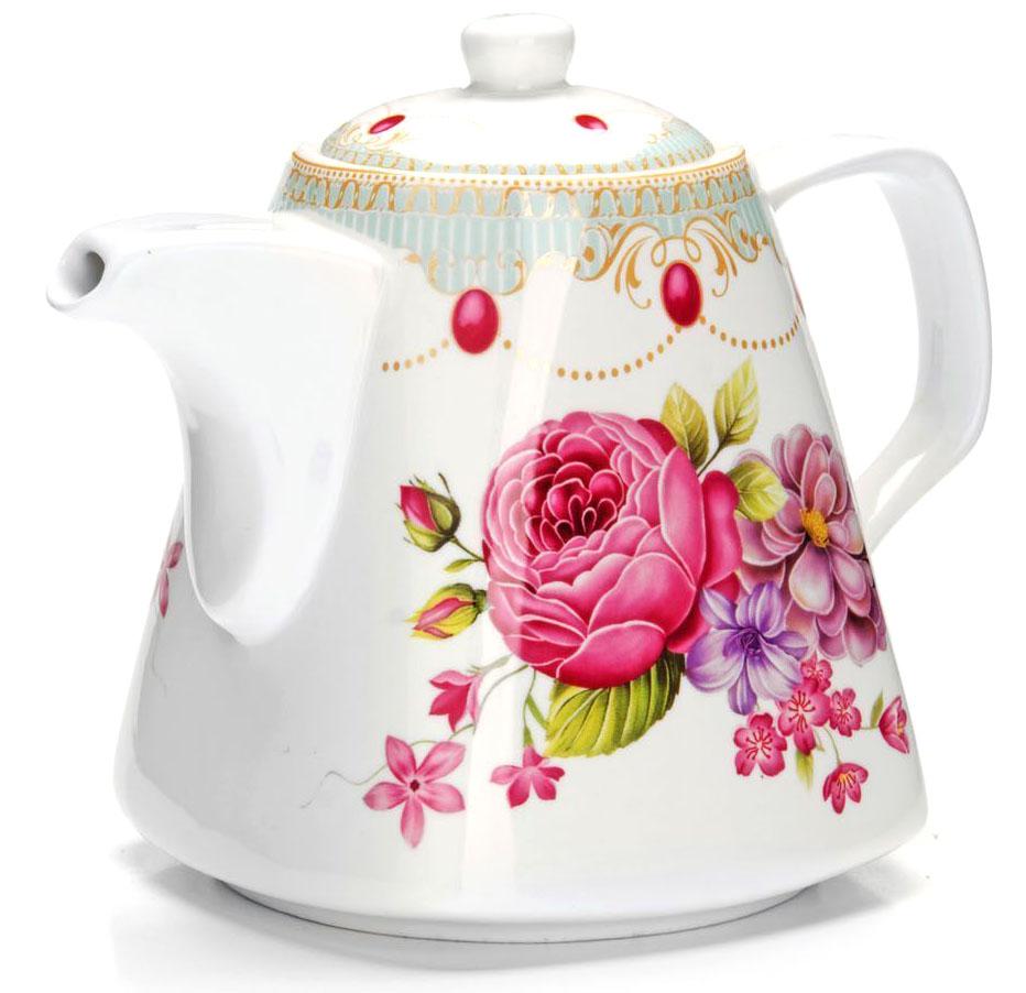 Заварочный чайник Loraine Цветы, 1,1 л. 2654826548Заварочный чайник Loraine изготовлен из высококачественной керамики. Посуда из данного материала позволяет максимально сохранить полезные свойства и вкусовые качества воды.Украшенные изящным рисунком стенки чайника, придают ему эстетичности на столе. Чайник изысканно украсит стол к чаепитию и порадует вас классическим дизайном и качеством исполнения. Не использовать в микроволновой печи. Не применять абразивные моющие средства.