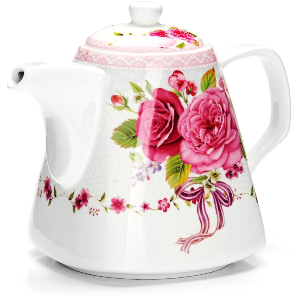 Заварочный чайник Loraine Цветы, 1,1 л. 2654926549Заварочный чайник Loraine изготовлен из высококачественной керамики. Посуда из данного материала позволяет максимально сохранить полезные свойства и вкусовые качества воды.Украшенные изящным рисунком стенки чайника, придают ему эстетичности на столе. Чайник изысканно украсит стол к чаепитию и порадует вас классическим дизайном и качеством исполнения. Не использовать в микроволновой печи. Не применять абразивные моющие средства.