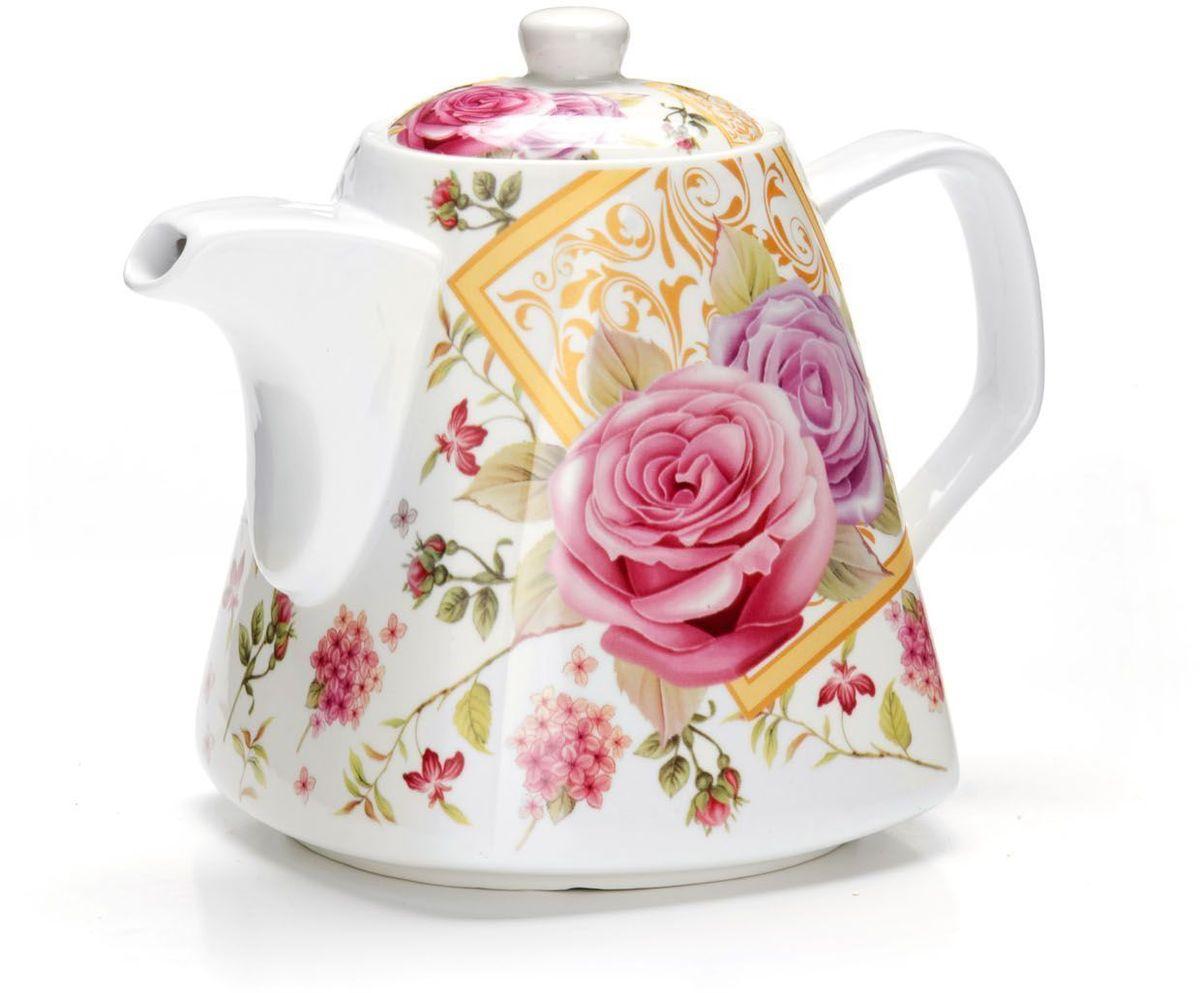Заварочный чайник Loraine Цветы, 1,1 л. 2655026550Заварочный чайник Loraine изготовлен из высококачественной керамики. Посуда из данного материала позволяет максимально сохранить полезные свойства и вкусовые качества воды.Украшенные изящным рисунком стенки чайника, придают ему эстетичности на столе. Чайник изысканно украсит стол к чаепитию и порадует вас классическим дизайном и качеством исполнения. Не использовать в микроволновой печи. Не применять абразивные моющие средства.