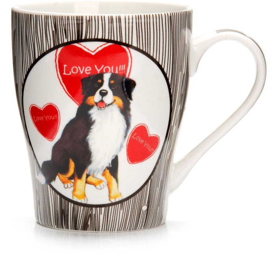 Кружка Loraine Собака, 340 мл. 26562-126562-1Кружка Loraine, выполненная из костяного фарфора и украшенная ярким рисунком, станет красивым и полезным подарком для ваших родных и близких. Дизайн изделия придется по вкусу и ценителям классики, и тем, кто предпочитает утонченность и изысканность.Кружка настроит на позитивный лад и подарит хорошее настроение с самого утра.Изделие пригодно для использования в микроволновой печи и холодильника.Подходит для мытья в посудомоечной машине.