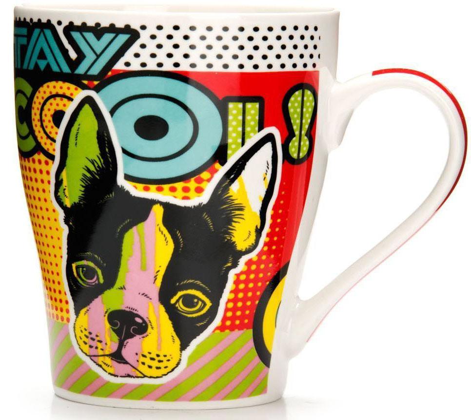 Кружка Loraine Собака, 340 мл. 26567-126567-1Кружка Loraine, выполненная из костяного фарфора и украшенная ярким рисунком, станет красивым и полезным подарком для ваших родных и близких. Дизайн изделия придется по вкусу и ценителям классики, и тем, кто предпочитает утонченность и изысканность.Кружка настроит на позитивный лад и подарит хорошее настроение с самого утра.Изделие пригодно для использования в микроволновой печи и холодильника.Подходит для мытья в посудомоечной машине.