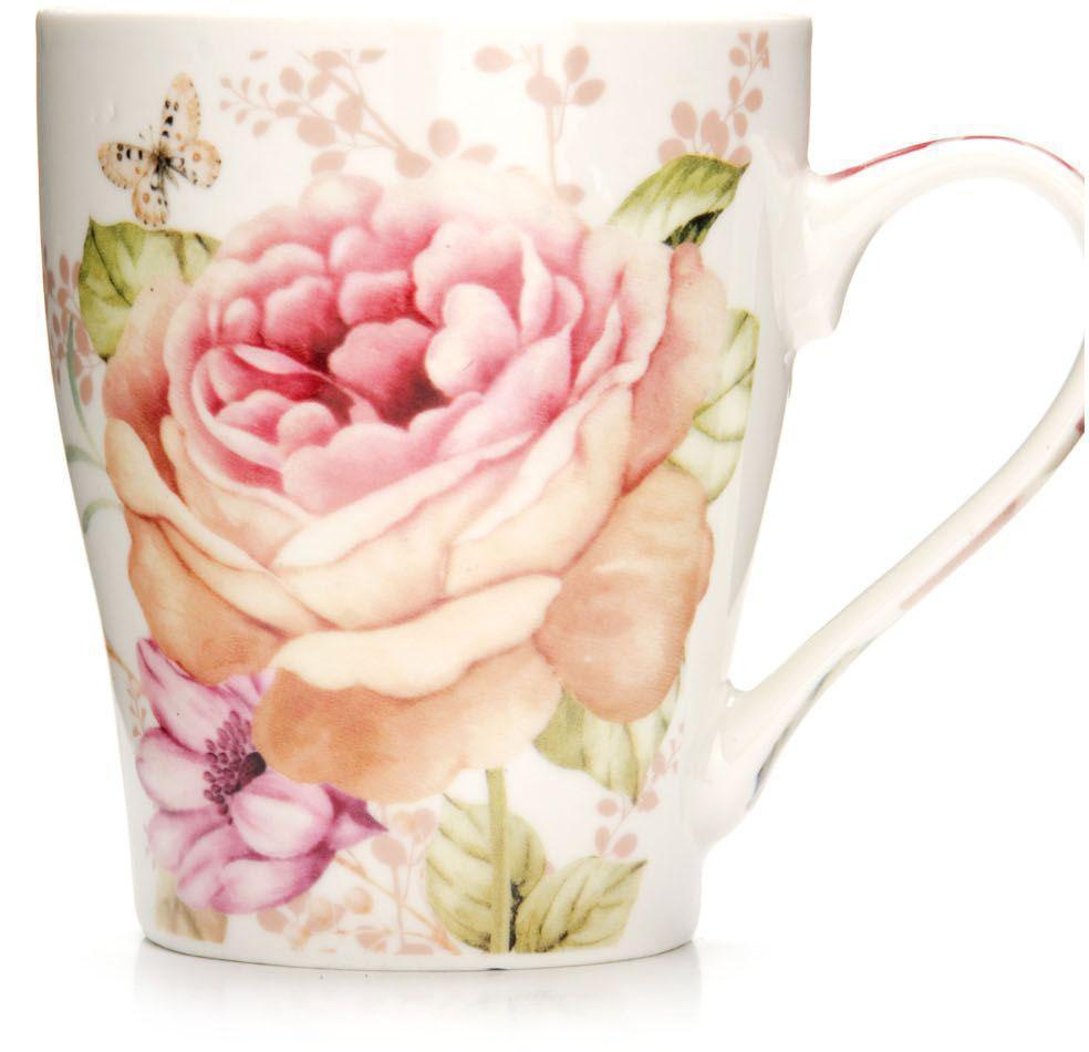 Кружка Loraine Цветы, 340 мл. 26572-226572-2Кружка Loraine, выполненная из костяного фарфора и украшенная ярким рисунком, станет красивым и полезным подарком для ваших родных и близких. Дизайн изделия придется по вкусу и ценителям классики, и тем, кто предпочитает утонченность и изысканность.Кружка настроит на позитивный лад и подарит хорошее настроение с самого утра.Изделие пригодно для использования в микроволновой печи и холодильника.Подходит для мытья в посудомоечной машине.