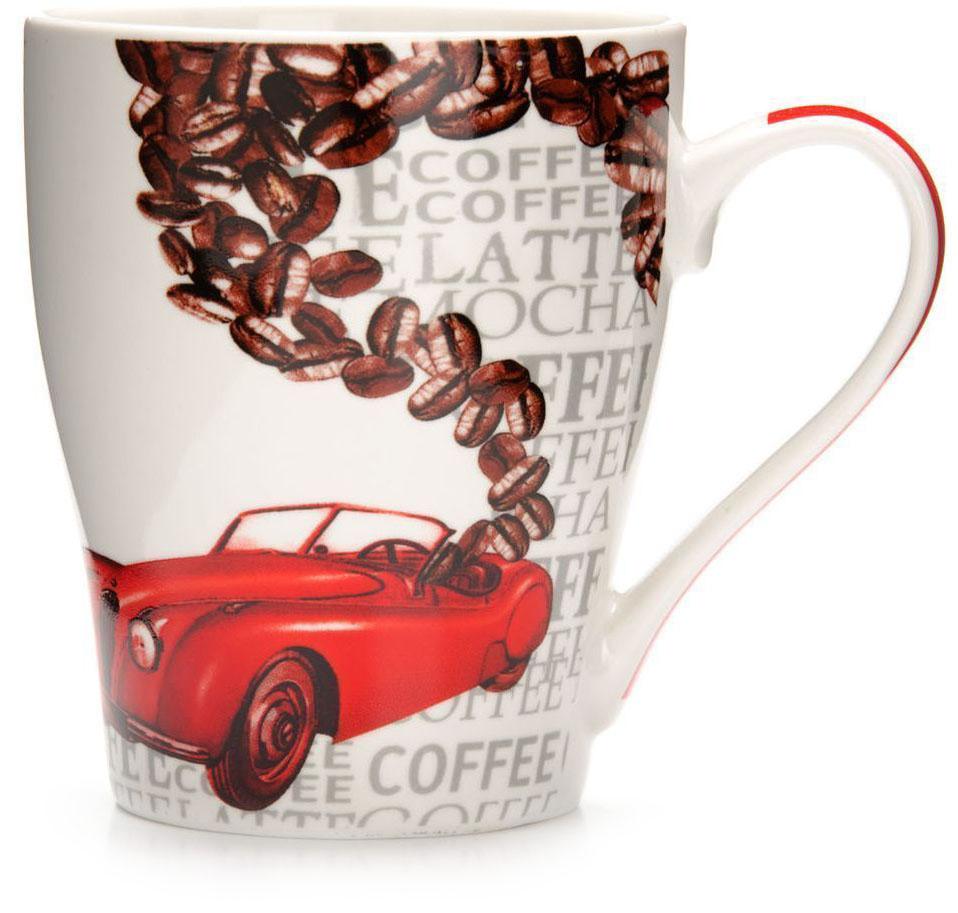 Кружка Loraine Автомобиль, 340 мл. 26584-326584-3Кружка Loraine, выполненная из костяного фарфора и украшенная ярким рисунком, станет красивым и полезным подарком для ваших родных и близких. Дизайн изделия придется по вкусу и ценителям классики, и тем, кто предпочитает утонченность и изысканность.Кружка настроит на позитивный лад и подарит хорошее настроение с самого утра.Изделие пригодно для использования в микроволновой печи и холодильника.Подходит для мытья в посудомоечной машине.
