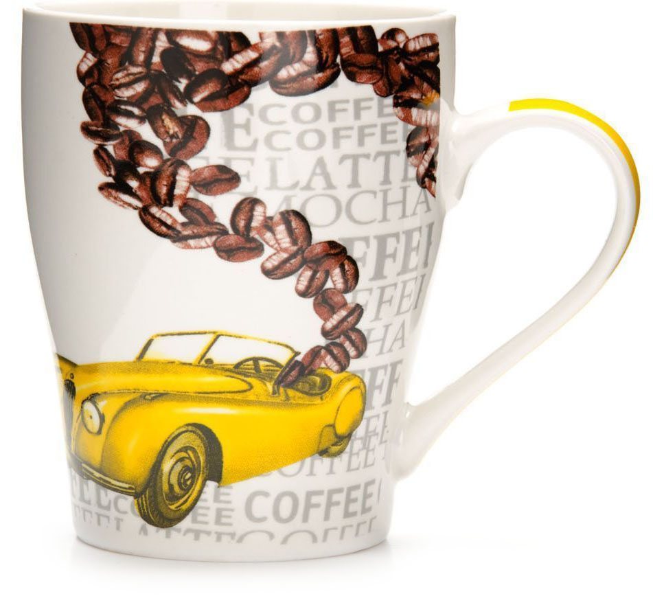Кружка Loraine Автомобиль, 340 мл. 26584 кружка loraine автомобиль цвет желтый коричневый 340 мл