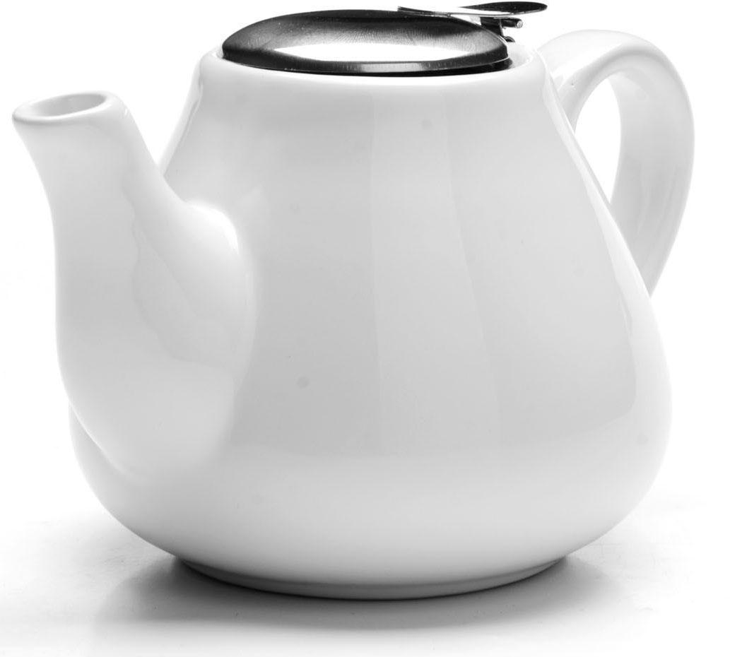 Заварочный чайник Loraine, цвет: белый, 600 мл. 26595-126595-1Заварочный чайник Loraine выполнен из высококачественной цветной керамики. Фильтр из нержавеющей стали для заваривания раскроет букет чая и не позволит чаинкам попасть в чашку. Удобная металлическая крышка поддержит нужную температуру для заваривания чая.Керамический чайник прост и удобен в применении, чайник легко мыть. Не ставьте чайник на открытый огонь и нагревающиеся поверхности.Подходит для мытья в посудомоечной машине.