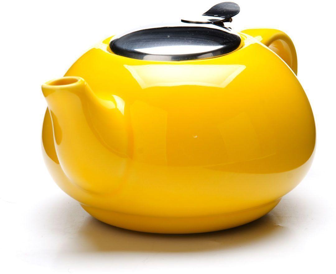 Заварочный чайник Loraine, цвет: желтый, 750 мл. 26596-226596-2Заварочный чайник Loraine выполнен из высококачественной цветной керамики. Фильтр из нержавеющей стали для заваривания раскроет букет чая и не позволит чаинкам попасть в чашку. Удобная металлическая крышка поддержит нужную температуру для заваривания чая.Керамический чайник прост и удобен в применении, чайник легко мыть. Не ставьте чайник на открытый огонь и нагревающиеся поверхности.Подходит для мытья в посудомоечной машине.
