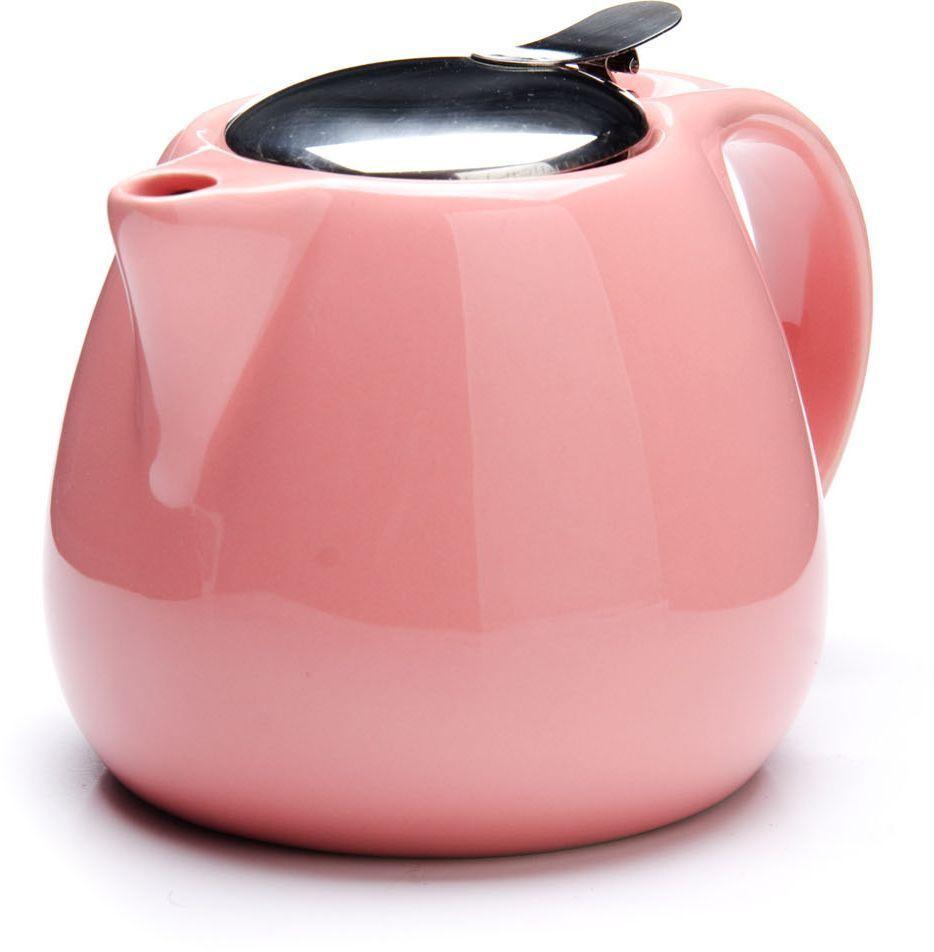 Заварочный чайник Loraine, цвет: розовый, 750 мл. 26597-226597-2Заварочный чайник Loraine выполнен из высококачественной цветной керамики. Фильтр из нержавеющей стали для заваривания раскроет букет чая и не позволит чаинкам попасть в чашку. Удобная металлическая крышка поддержит нужную температуру для заваривания чая.Керамический чайник прост и удобен в применении, чайник легко мыть. Не ставьте чайник на открытый огонь и нагревающиеся поверхности.Подходит для мытья в посудомоечной машине.