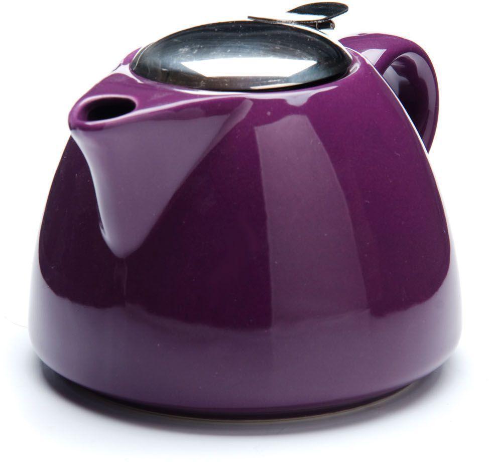 Заварочный чайник Loraine, цвет: фиолетовый, 700 мл. 26598-126598-1Заварочный чайник Loraine выполнен из высококачественной цветной керамики. Фильтр из нержавеющей стали для заваривания раскроет букет чая и не позволит чаинкам попасть в чашку. Удобная металлическая крышка поддержит нужную температуру для заваривания чая.Керамический чайник прост и удобен в применении, чайник легко мыть. Не ставьте чайник на открытый огонь и нагревающиеся поверхности.Подходит для мытья в посудомоечной машине.