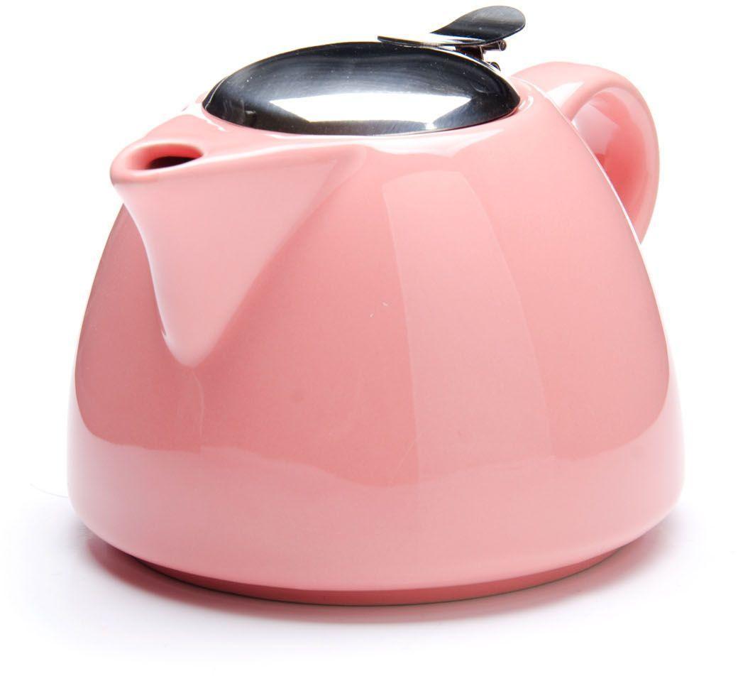 Заварочный чайник Loraine, цвет: розовый, 700 мл. 26598-226598-2Заварочный чайник Loraine выполнен из высококачественной цветной керамики. Фильтр из нержавеющей стали для заваривания раскроет букет чая и не позволит чаинкам попасть в чашку. Удобная металлическая крышка поддержит нужную температуру для заваривания чая.Керамический чайник прост и удобен в применении, чайник легко мыть. Не ставьте чайник на открытый огонь и нагревающиеся поверхности.Подходит для мытья в посудомоечной машине.