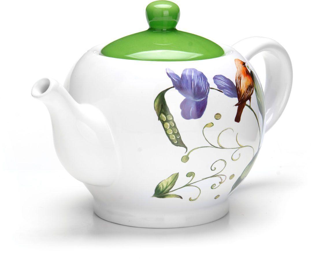 Заварочный чайник Loraine Птичка, 950 мл26607Заварочный чайник с крышкой Loraine поможет вам в приготовлении вкусного и ароматного чая, а также станет украшением вашей кухни. Он изготовлен из доломитовой керамики и оформлен красочным изображением. Нежный рисунок придает чайнику особый шарм, чайник удобен в использовании и понравится каждому.Такой заварочный чайник станет приятным и практичным подарком на любой праздник.Подходит для мытья в посудомоечной машине.