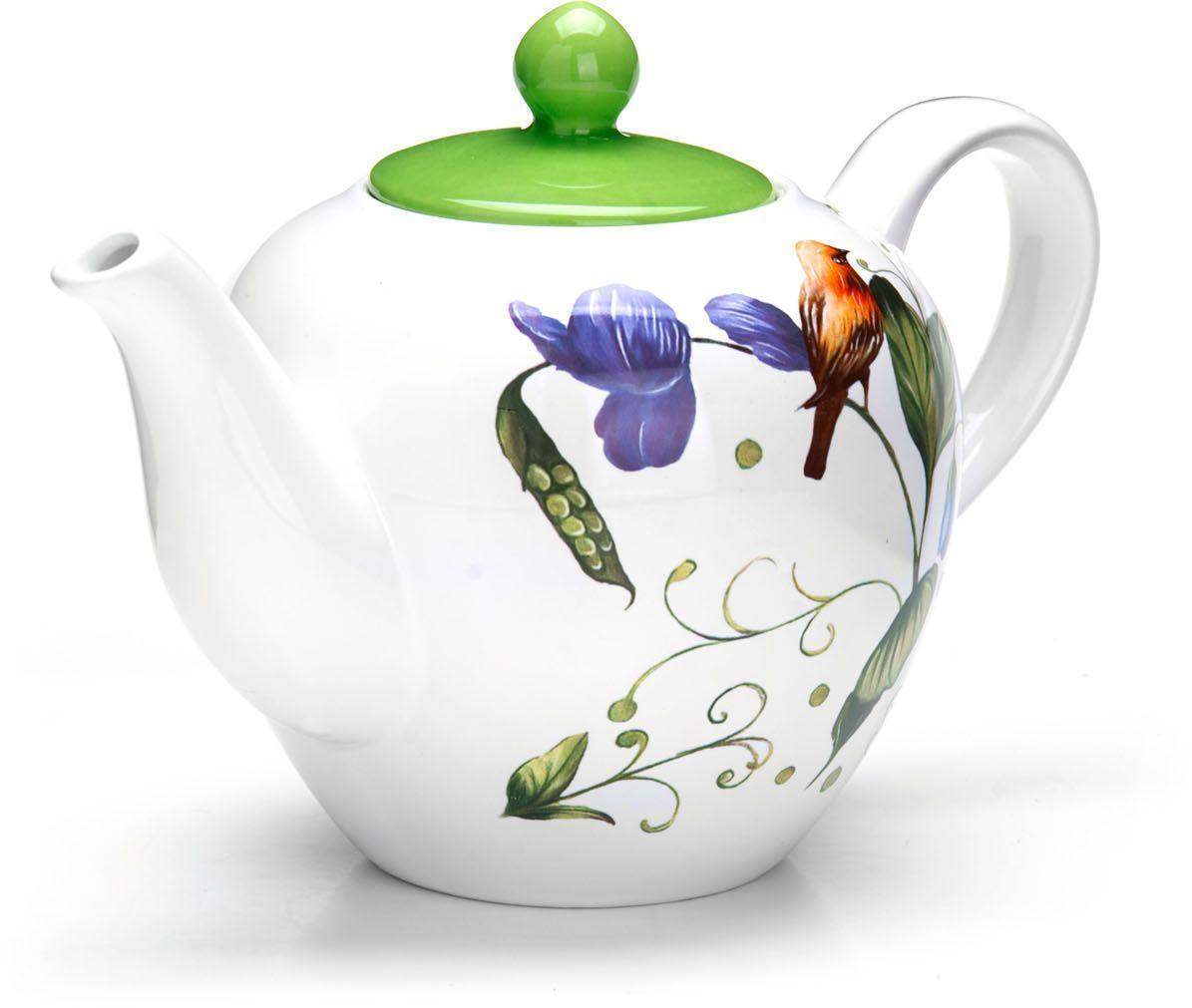 Заварочный чайник Loraine Птичка, 1,2 л26608Заварочный чайник с крышкой Loraine поможет вам в приготовлении вкусного и ароматного чая, а также станет украшением вашей кухни. Он изготовлен из доломитовой керамики и оформлен красочным изображением. Нежный рисунок придает чайнику особый шарм, чайник удобен в использовании и понравится каждому.Такой заварочный чайник станет приятным и практичным подарком на любой праздник.Подходит для мытья в посудомоечной машине.