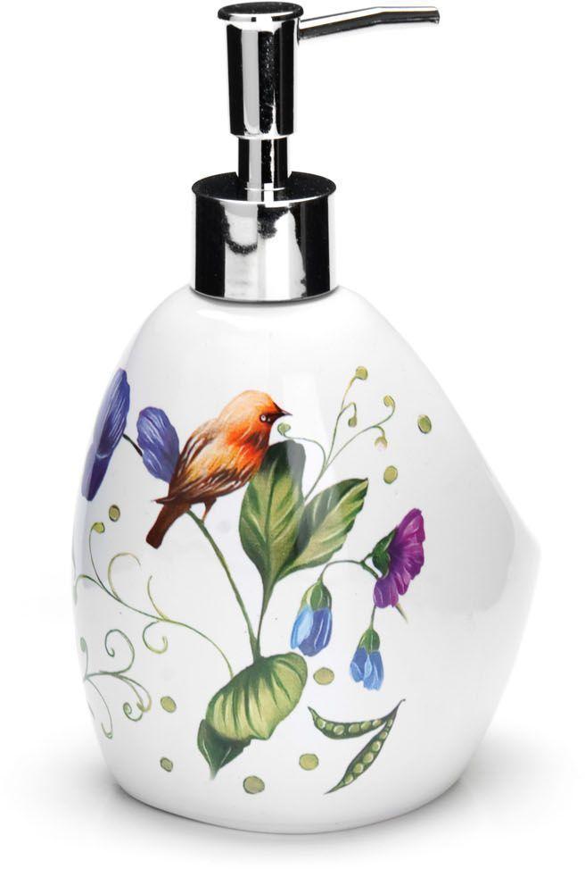 Дозатор для мыла Loraine Птичка, 400 мл26610Дозатор для жидкого мыла Loraine выполнен из прочного доломита высокого качества. За изделием очень легко ухаживать, для этого достаточно просто периодически промывать его водой. Диспенсер может служить как самостоятельным предметом в вашей ванной комнате, так и дополнительным аксессуаром на кухне.Рекомендовано мыть руками. Объем: 400 мл.