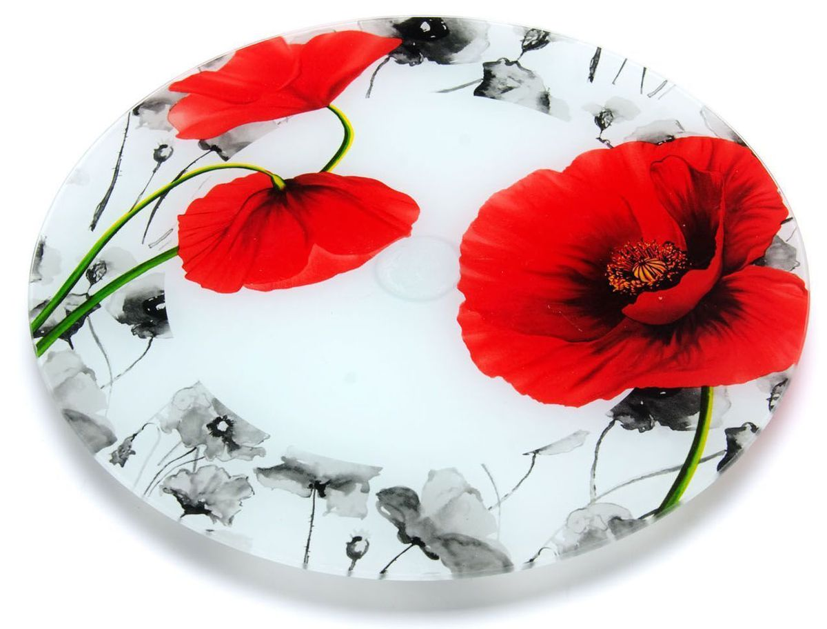 Блюдо для торта Loraine, вращающееся, диаметр 30,6 см. 26629-1IM99-5730Вращающееся блюдо для торта Loraine выполнено из качественного закаленного стекла и украшено ярким рисунком. Изделие идеально подойдет для сервировки не только торта и десертов, но и различных закусок. Вращающийся механизм позволит вам легко их нарезать и взять, не пододвигая постоянно подставку.Оригинальная и стильная тортовница станет достойным украшением вашего праздничного стола.Посуда обладает непористой поверхностью и не впитывает запахи. Легко и быстро моется
