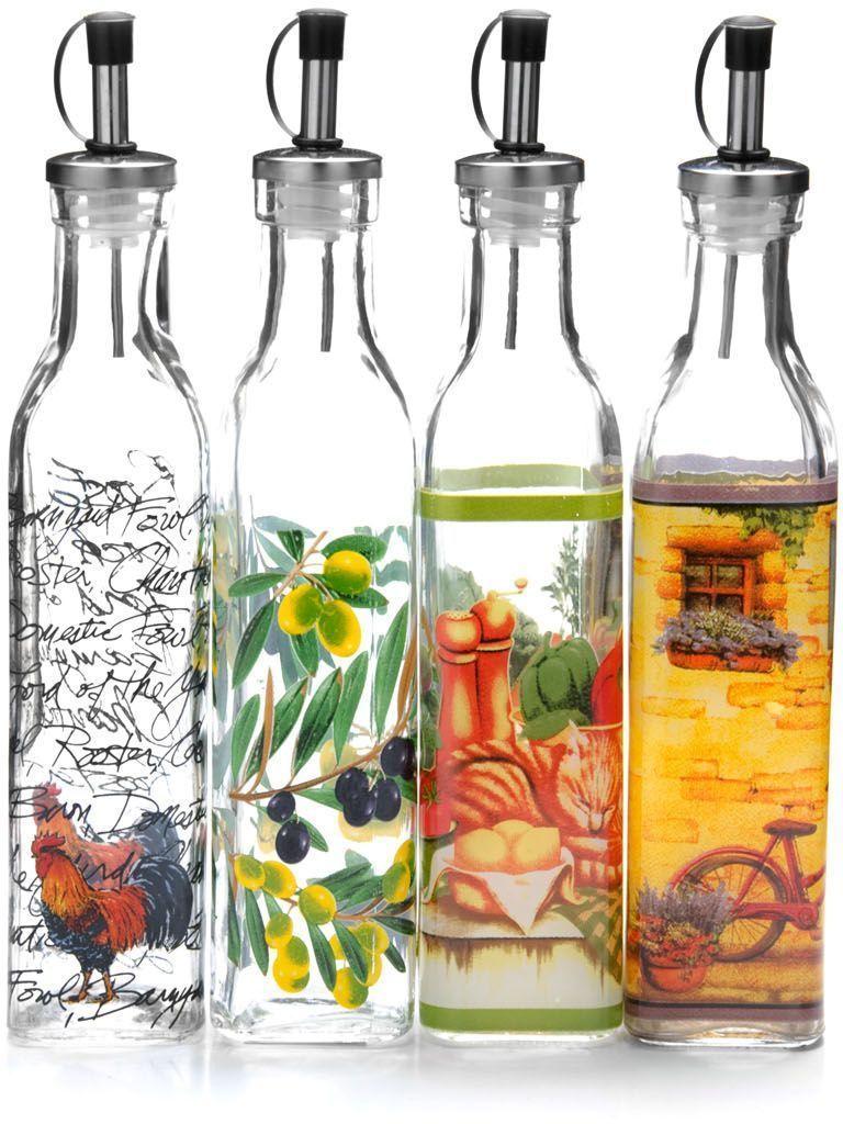 Бутылка для масла/уксуса выполнена из высококачественного стекла и декорирована красочным рисунком. Объем бутылки 300 мл. Изделие предназначено для хранения и использования различных растительных масел и уксусов. Пластиковая пробка снабжена клапаном с функцией «анти-капля», не допускающим пролива, поэтому вы сможете налить из бутылки ровно столько масла или уксуса, сколько необходимо, не уронив при этом ни одной лишней капли. Оригинальность оформления бутылки украсит любую кухню и послужит отличным подарком! Изделие обладает гладкой непористой поверхностью, не впитывает запахи, легко моется.  Уважаемые клиенты!  Обращаем ваше внимание на возможные изменения в цвете некоторых деталей товара. Поставка осуществляется в зависимости от наличия на складе.