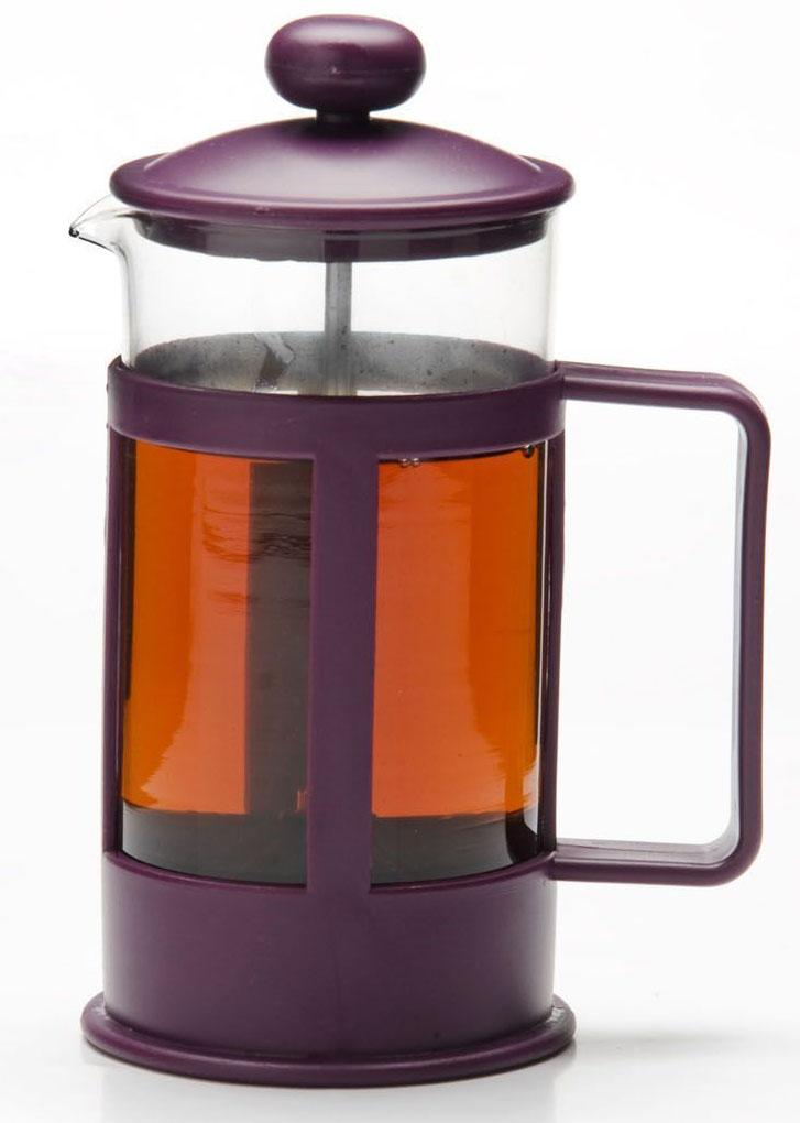 Френч-пресс Mayer & Boch, цвет: фиолетовый, прозрачный, 1 л. 26815-126815-1Френч-пресс Mayer & Boch изготовлен из высокотехнологичных материалов на современном оборудовании. Корпус выполнен из высококачественного боросиликатного термостойкого стекла, устойчивого к окрашиванию, царапинам и термошоку. Фильтр-поршень из нержавеющей стали выполнен по технологии press-up для обеспечения равномерной циркуляции воды в чайнике. Практичный и стильный дизайн полностью соответствует последним модным тенденциям в создании предметов бытовой техники. Френч-пресс Mayer & Boch позволит вам быстро и без усилий приготовить свежий ароматный кофе или чай. Подходит для мытья в посудомоечной машине. Не использовать чистящие и дезинфицирующие средства, содержащие хлор. Не подходит для использования на открытом огне.