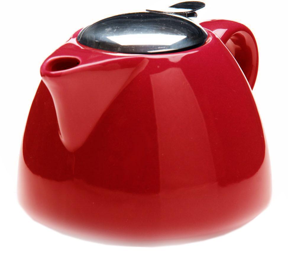 Заварочный чайник Loraine, цвет: красный, 700 мл. 26598-326598-3Заварочный чайник Loraine выполнен из высококачественной цветной керамики. Фильтр из нержавеющей стали для заваривания раскроет букет чая и не позволит чаинкам попасть в чашку. Удобная металлическая крышка поддержит нужную температуру для заваривания чая.Керамический чайник прост и удобен в применении, чайник легко мыть. Не ставьте чайник на открытый огонь и нагревающиеся поверхности.Подходит для мытья в посудомоечной машине.